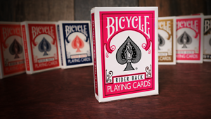 Bicycle-Rider-Back-Playing-Cards-Poker-Fuchsia-By-USPCC-New-Sealed