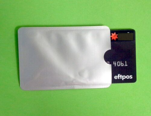 RFDI SILVER Credit Debt Cards Sips 3 x Security Protect your Money /& Data NEW