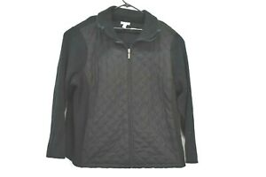Croft-and-Barrow-Women-039-s-Size-3X-Full-Zip-Turtleneck-Jacket-Quilted-Front
