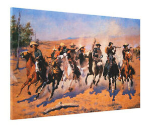 A-Dash-for-the-Timber-by-Frederic-Remington-Cowboys-Giclee-Print-CANVAS-20x36