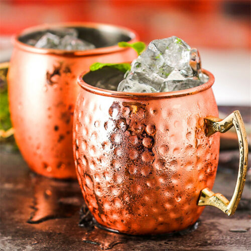 530ML Moscow Mule Stainless Steel Mugs Barrel Hammered Cup Party Beer Cups 34CA