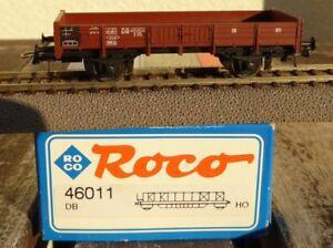 ROCO-46011-H0-offener-Niederbordwagen-X05-der-DB-Epoche-3-neuwertig-in-OVP
