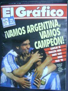 Fan Apparel & Souvenirs Original El Grafico Magazine Special Edition Soccer World Cup Italy 1990