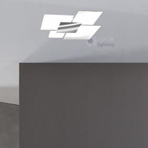 lampadario moderno acciaio cromato cristallo plafoniera lampada soffitto