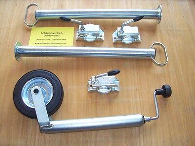 Stützrad, Abstellstützen und Halter im Set 600 mm