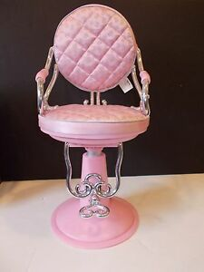 Image is loading PINK-HAIR-SALON-CHAIR-FITS-18-034-GIRL- & PINK HAIR SALON CHAIR FITS 18