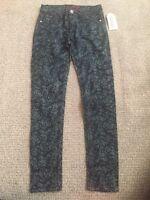 Denim Blue Rose Skinny Jeans Girls Size 12