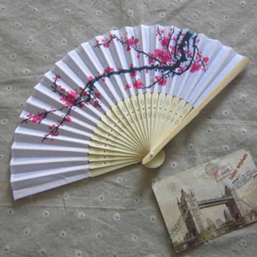 Chinesischer faltender Handfächer japanischer Kirschblüten-Entwurfs-Silk BCDE