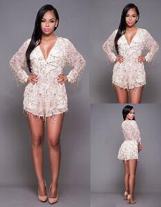 new concept f97b9 63682 Dettagli su tuta elegante pantaloni corto jumpsuit vestito abito cerimonia  donna casual 273