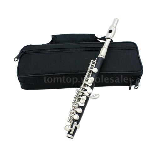 Piccolo Ottavino Half Size Flute Cupronickel Silver Plated C Key Tone+Case B2 B6 by Lade