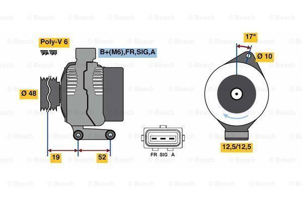 Bosch Alternador Remanufacturado 0986080440 8044-Original -5 Año Garantía