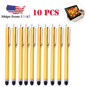 10x-Gold-Universal-Stylus-Touch-Screen-Pen-for-Tablet-Phone-iPod-iPad-PC