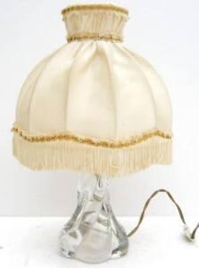 Belle-LAMPE-avec-Pied-en-Cristal-1950