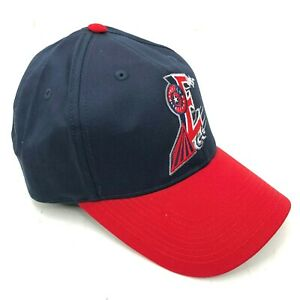 Round-Rock-Express-Adjustable-Outdoor-Cap-Hat-Strapback-Curved-Brim-Blue-Red