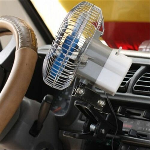 Portable 12V Mini Electric Car Fan Cooling Low Noise Summer Vehicle Auto Cooling