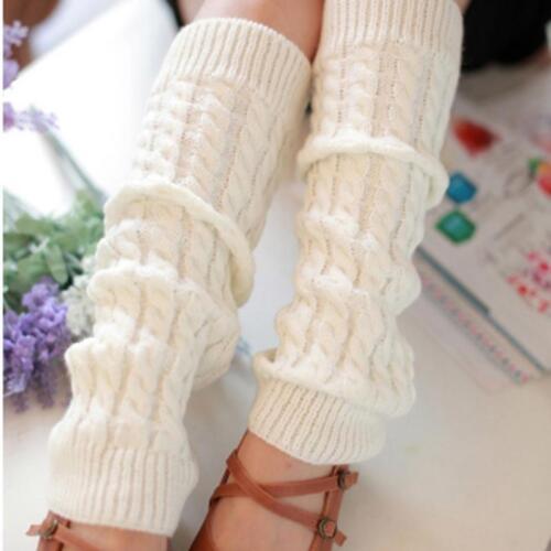 Warmers Knitted Socks Crochet Leggings Winter Footwear Slouch Boot Stockings one