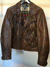 Polo Ralph Lauren Brown Leather Motorcycle  Jacket