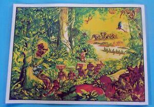 Decoration-Murale-Set-de-Table-la-Jungle-Colonie-en-Afrique-Gorille-Elephant
