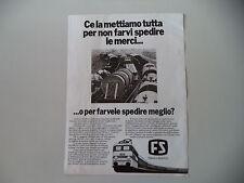 advertising Pubblicità 1977 FS FERROVIE DELLO STATO TRENI
