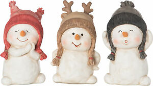 The Holiday Aisle 3 Piece Resin Snowman Figurine Set