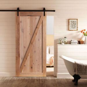 Image Is Loading Vintage Wood Sliding Barn Door Diy Embled Planks