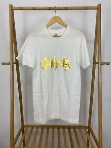 VTG-Screen-Stars-Gold-Batman-Logo-Short-Sleeve-White-T-Shirt-Size-L-USA