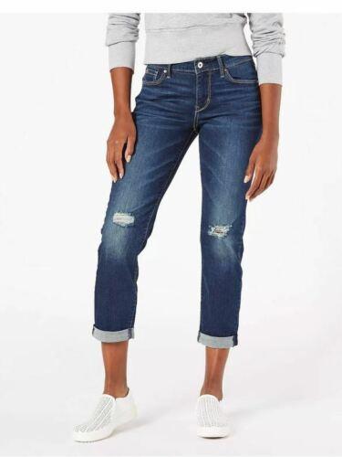 Dark Wash Size 18 #ax51 DENIZEN Levi/'s Women/'s Mid-Rise Slim Boyfriend Jeans