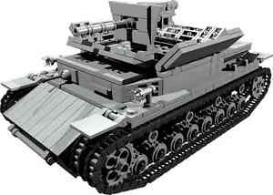 CUSTOM building INSTRUCTION  for WW2 FLAK PANZER to build out of LEGO parts - <span itemprop='availableAtOrFrom'>Exmouth, Devon, United Kingdom</span> - Returns accepted - Exmouth, Devon, United Kingdom