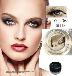 Ombre-a-paupieres-cremeuse-waterproof-YELLOW-GOLD-AVON-Mega-Effects-or-dore