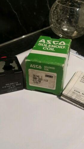 ASCO SOLENOID COIL 400-325-113 415//50 CLASS F 6WFT UNUSED  STOCK 400325113