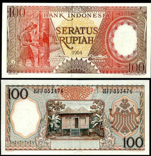INDONESIA 100 RUPIAH 1964 P 97 UNC