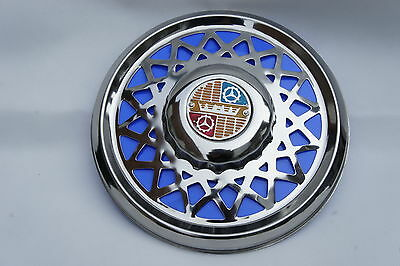 "VESPA Super VBC VBB 8/"" Chrome Spare Wheel Cover Trim Blue"