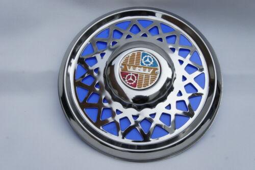 "VESPA Super VBC VBB 8/"" Chrome Spare Wheel Cover Trim Blue"