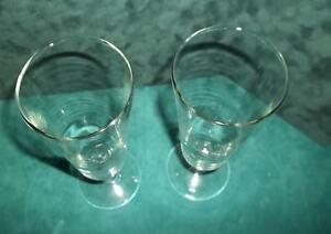 Lot-of-2-Vintage-Pilsner-Beer-Flute-Draft-Glasses-10-oz