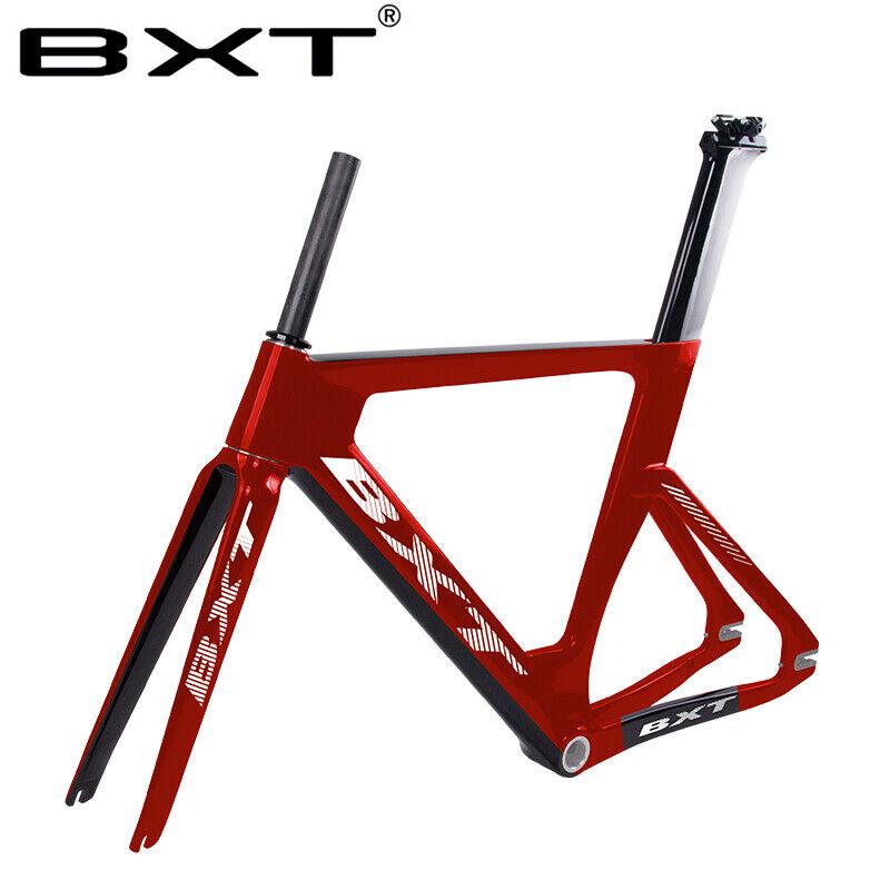 Todo fibra de Cochebono bicicleta de piñón fijo 49 51 54 57cm Marco Bicicleta de pista Marcos BSA