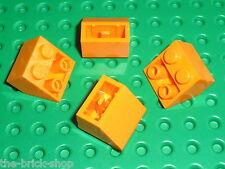 4 x LEGO Orange Slope Brick ref 3660 / Set 6575 7171 3731 8968 6520 8496 4997...
