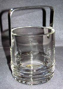 Kosta-Boda-Eiswuerfelbehaelter-Kristallglas-mit-Metallbuegel