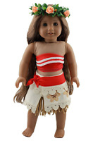 Wesen 18 Inch Doll Clothes Moana Costume Outfits Fits American Girl Dolls