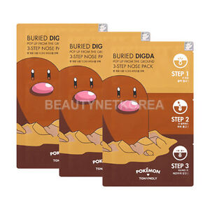 TONYMOLY-Buried-Digda-Pop-Up-From-The-Ground-3-Step-Nose-Pack-3pcs