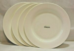 Mikasa-Lausanne-White-Bone-China-8-1-4-034-Salad-Side-Plates-Set-of-Four-New