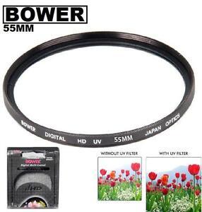 Bower-55mm-UV-Filter-For-Nikon-D5600-D3500-D3500-D3400-w-AF-P-DX-18-55mm-Lens