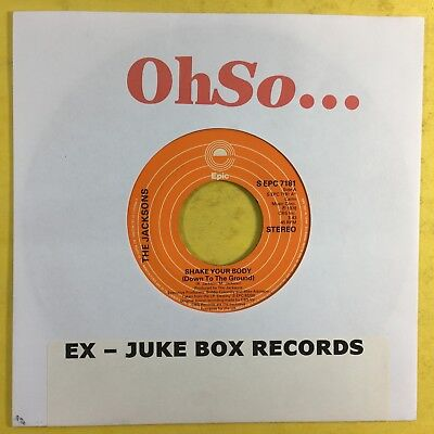 The Jacksons - Shake Your Body (Down To The Ground) - Epic 7181 VG+ Records  | eBay