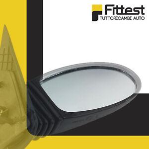 Specchio Retrovisore specchietto esterno Solo Vetro con Biadesivo Sinistro Curvo Cromato