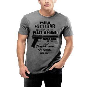 e972fcc3 Pablo Escobar T-Shirt Medellin Cartel King Of Cocaine Plato A Plomo ...