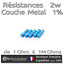 Lot of 5 resistances 2w 1/% metal-value of 1 ohms to 1m ohms to choice