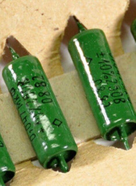 2 CONDENSATEURS NOS 0.047uF - 250v 10% VINTAGE RUSSIAN K42Y-2 PIO pour guitare