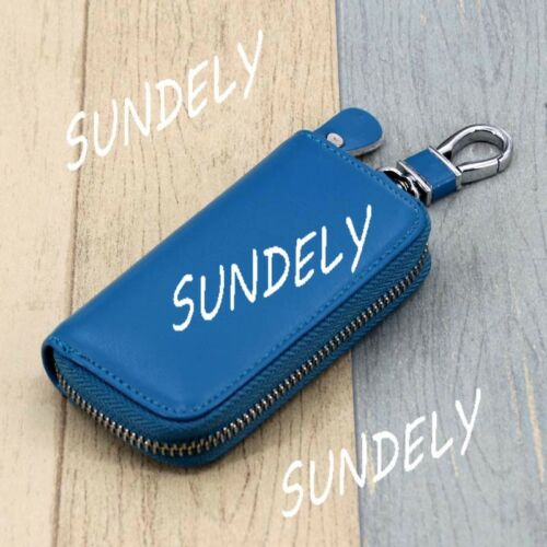 Men Women Leather Car Key Bag Ring Keychain Wallet Holder Case Coin Purse Pouch
