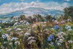 Penhill-Wensleydale-OIL-PAINTING-The-Dales-Original-signed-Impressionism
