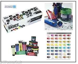 New Liquitex Basics Acrylic Paint Tube 48 Piece Set Art