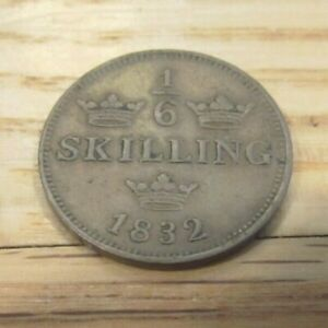 ⅙ Skilling - Carl XIV Johan (Type 2; smooth border